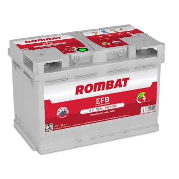 Baterie auto Rombat EFB 12 V - 70 Ah