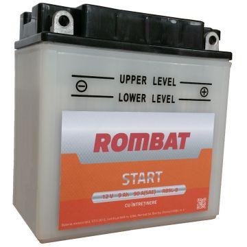 Baterie moto cu intretinere Rombat 12N9-4B-1 12 V - 9 Ah